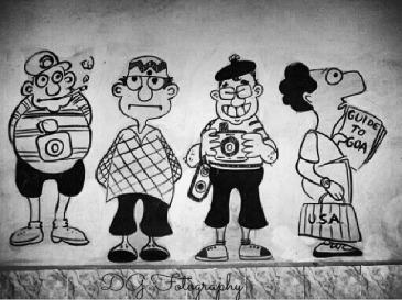 Cartoon art #train #station #madgaon